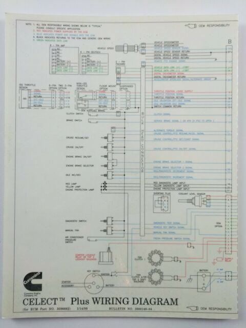 Wiring Diagram Cummins Celect 3618046 3619037 and 3084473 for sale online |  eBayeBay
