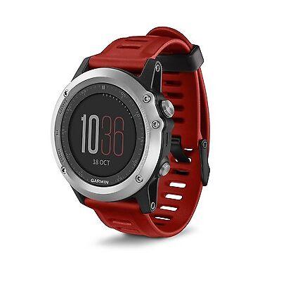 Garmin Fenix 3 Multi-Sport Training GPS/GLONASS Fitness Watch - Silver/Red