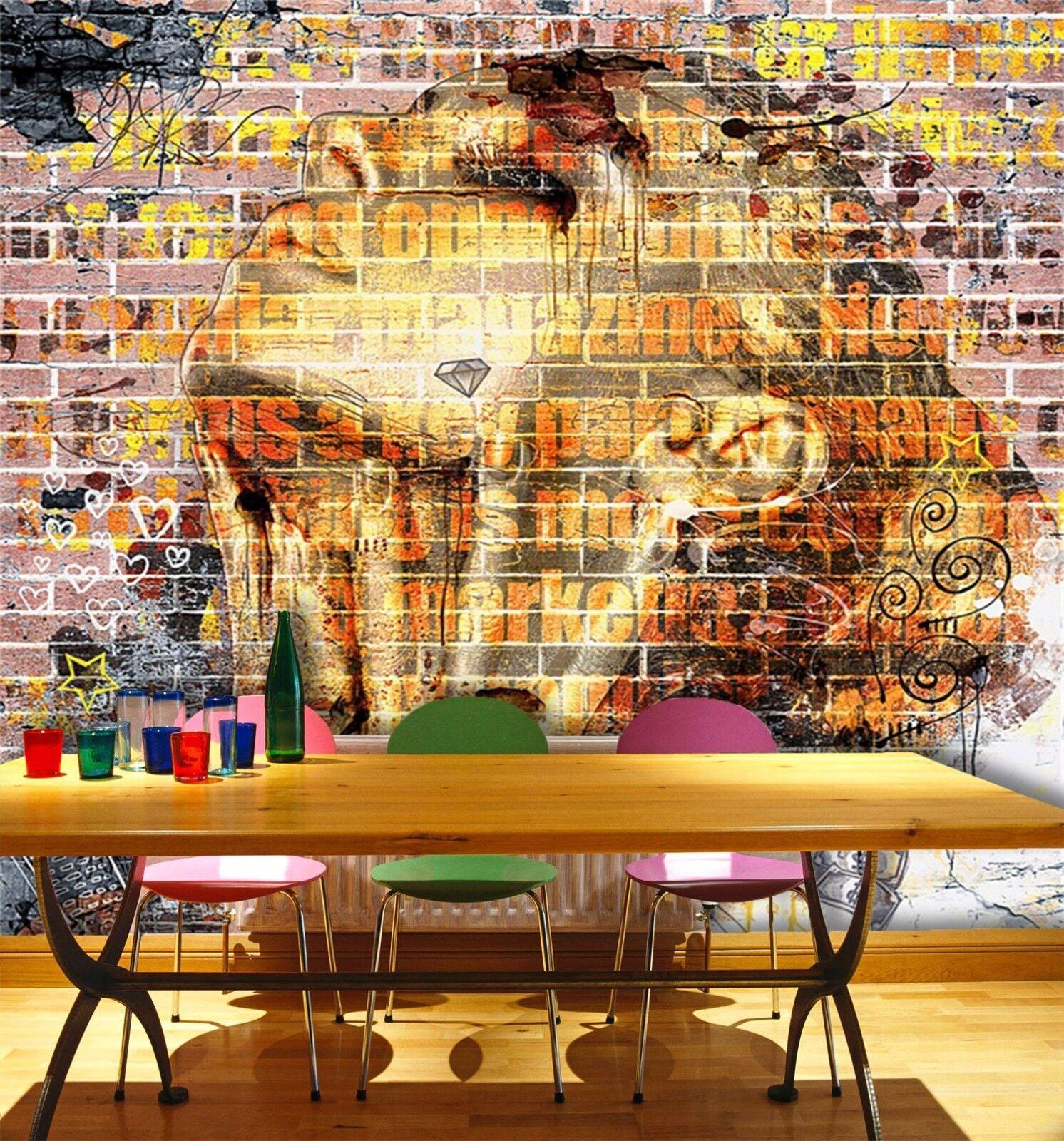3D Ziegelmädchen 577 Tapete Tapeten Mauer Foto Familie Tapete Wandgemälde Summer