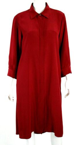 VALENTINA KOVA Carmine Red Silk Crepe Oversized Sh