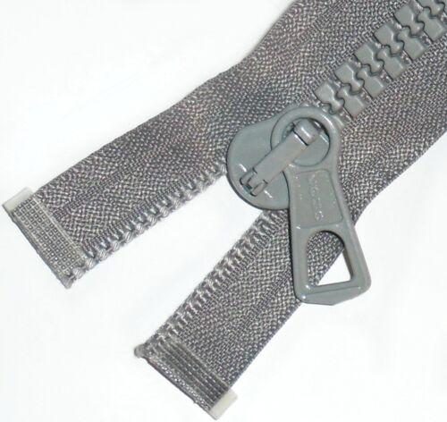 """Engourdir 8 Heavy Duty Saumon Coho les fermetures à glissière gris Chunky Dents Plastique Bout Ouvert Taille 24/"""" à 30/"""""""