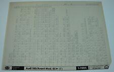 Microfich Ersatzteilkatalog Audi 100 / Avant Typ 44 / C3 ab Baujahr 1985!