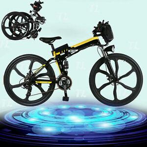 "26"" Folding Electric Bike City Commuter EBike Mountain Bicycle 21Speed`E-Bike"