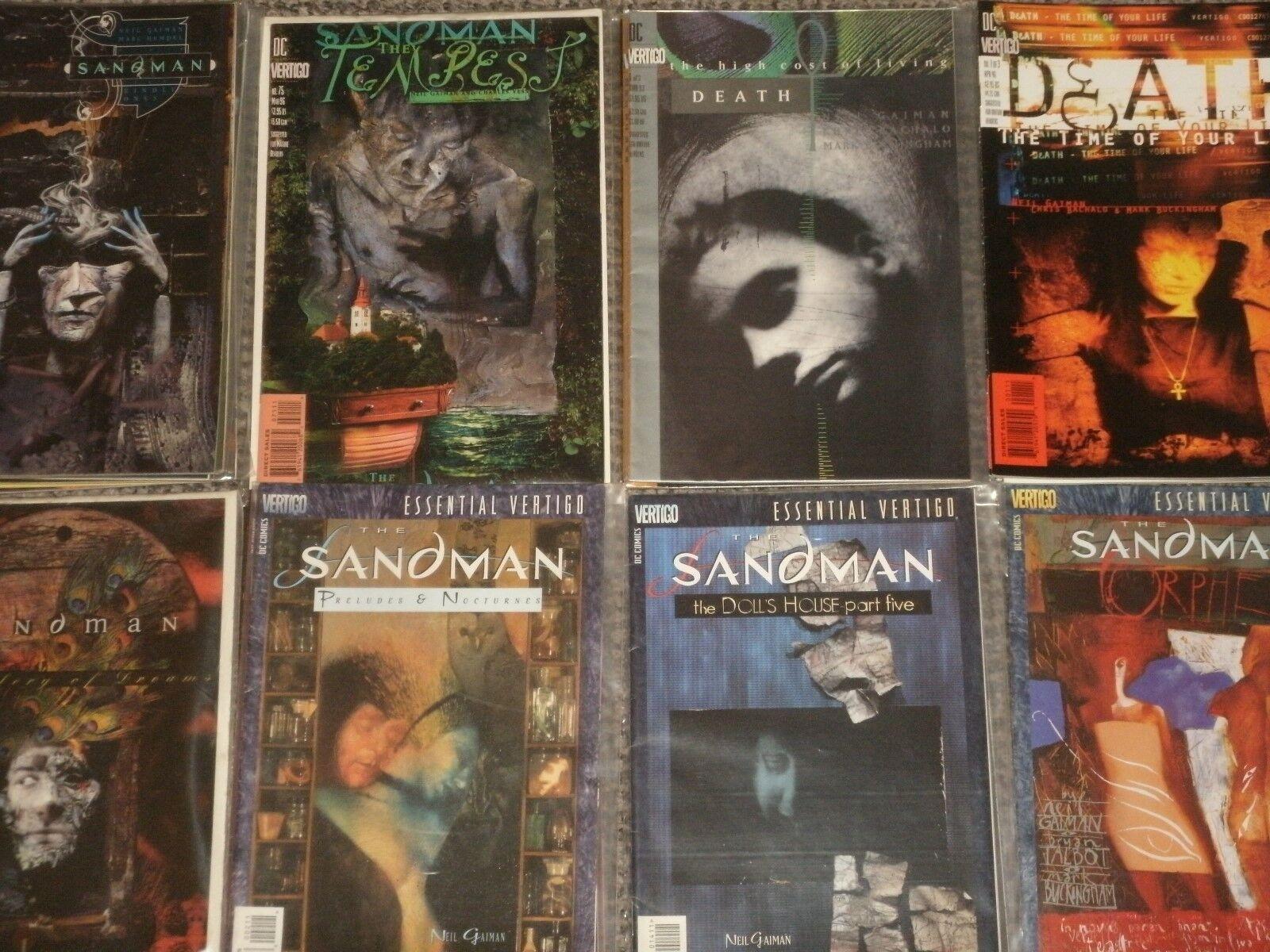 Neil Gaiman's 'THE SANDMAN' Morpheus, Death, Brian Talbot DC greenigo Comics Cult
