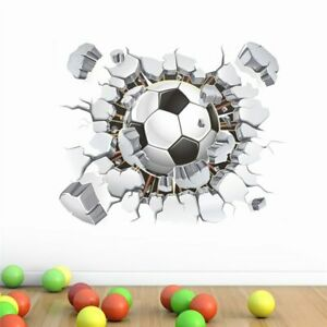 STICKER-MURAL-3D-BALLON-FOOTBALL-POSTER-AUTOCOLLANT-DECORATION-CHAMBRE-SPORT