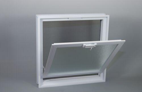 Lüftungsfenster Lüftungsflügel 484x484mm statt 4 Stück Glasbausteine 24x24x8cm