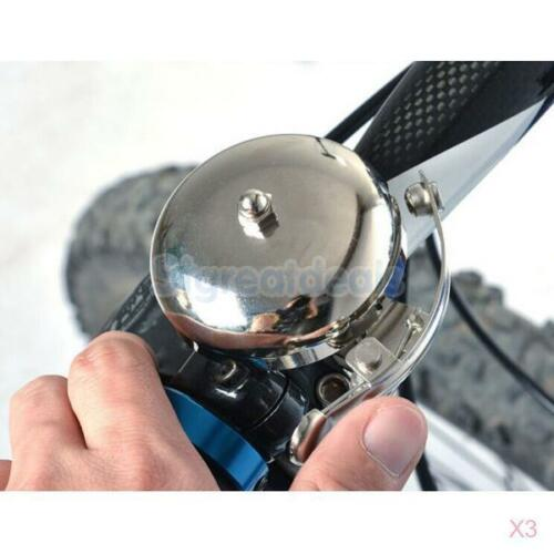 3x Classic Handlebar Silver Alarm Bell Ring Loud Horn For Cycling Bicycle Bike