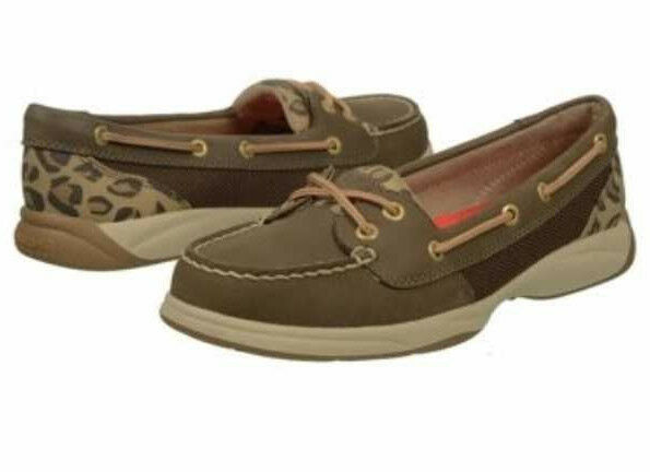 Sperry Top-Sider Women's Laguna Dk Brown   Leopard Boat shoes - Size 6 NOWB