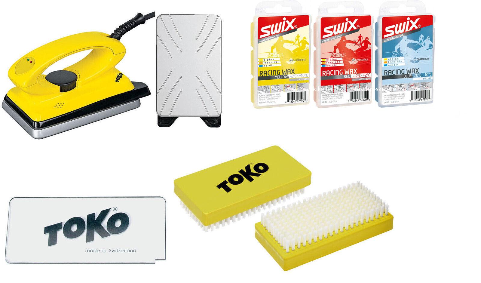 Toko & Swix Skiwax Set  6-teilig mit Bügeleisen ALPIN - NORDIC - BOARD