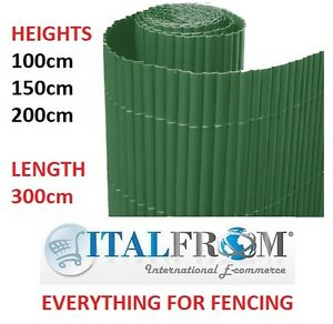 Bamboo PVC screen border panel fence garden wall privacy fencing ...