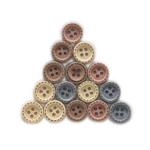 50pcs Round Wood Buttons for Sewing Scrapbooking Clothing Crafts Handmade 12mm
