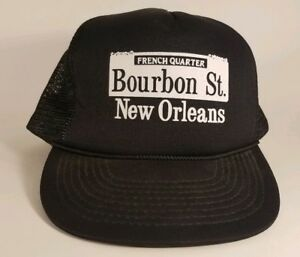 052287bdca1 Image is loading Vintage-French-Quarter-Bourbon-Street-New-Orleans-Snapback-