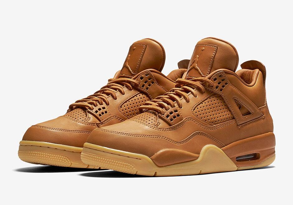 Nike Air Jordan 4 IV Retro Premium Wheat Ginger Gum Yellow 819139-205