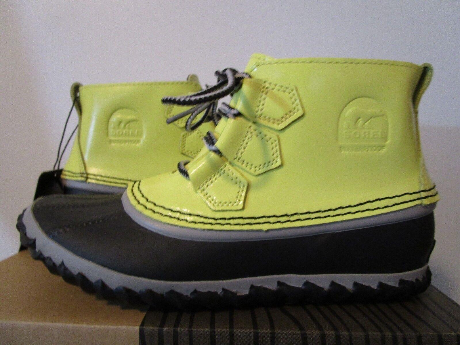 Damenschuhe Sorel Out N About Waterproof Schuhes Leder Fashion Rain Stiefel Zest / Dove