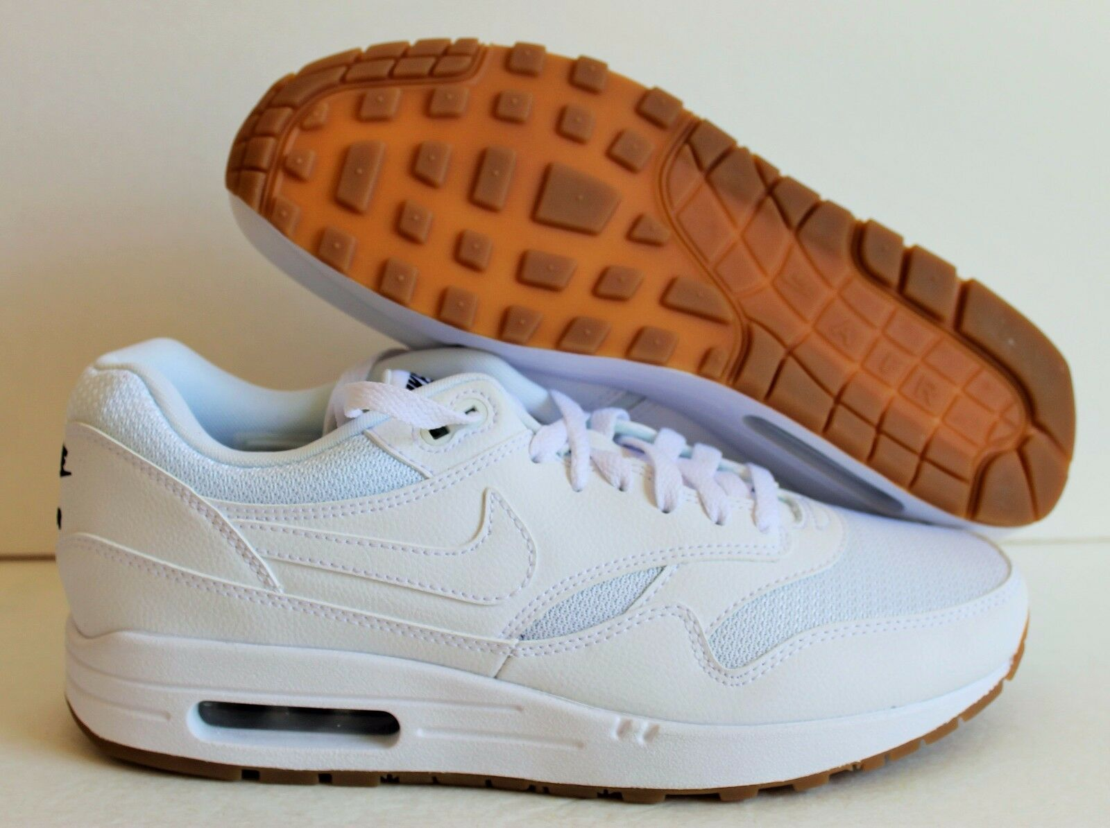 NIKE MEN AIR MAX 1 iD WHITE SZ 9.5 [744459 991] free