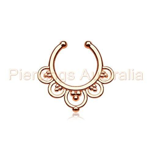 Fancy Non Piercing Clip On Fake Septum Nose Hanger Fake Body Piercing Ring
