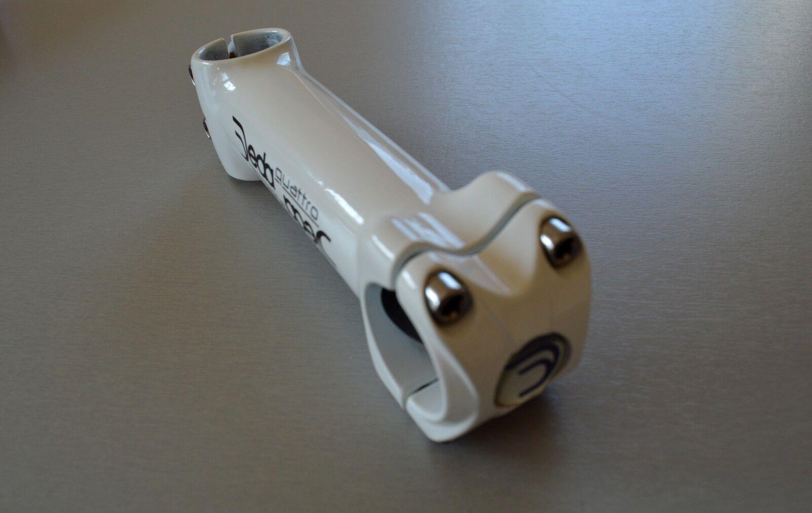 DEDA Quattro weiß weiß weiß Ahead Vorbau 1 1 8  130 mm -6° +6° weiss 31,7 OS 924c14