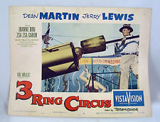VINTAGE LOBBY CARD 1954 Jerry Lewis as Human Cannonball 3 RING CIRCUS #3