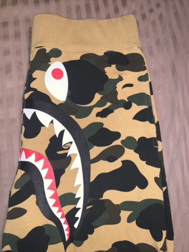 Bape Bathing Ape First Camo Yellow Shark Sweatpant