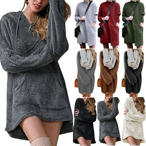 Women-Long-Sleeve-Sweatshirt-Jumper-Sweater-Pullover-Tunic-Long-Tops-Mini-Dress