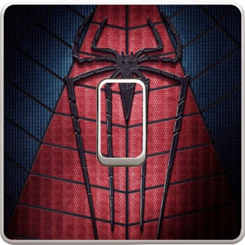 Spiderman Vengadores Logo Pegatina Calcomanía Vinilo Interruptor De Luz Para Dormitorio De Niños #36