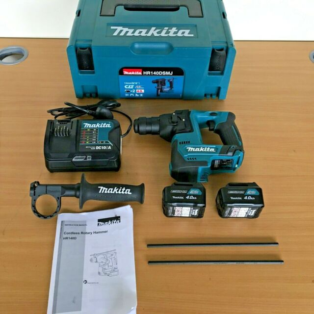 Makita HR 140 DSMJ 10.8v CXT 2x4.0Ah 14mm Li-Ion SDS Plus Martillo * Kit *