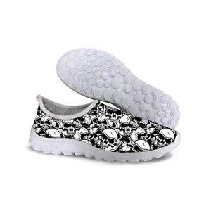 Gray-Skull-Fashion-Running-Trainers-Men-039-s-Walking-antichoc-Chaussures-Sport