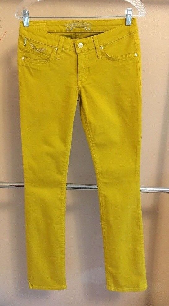 NEW Authentic Robin's Jean Casual Straight Leg Mustard Women Pants Size 27