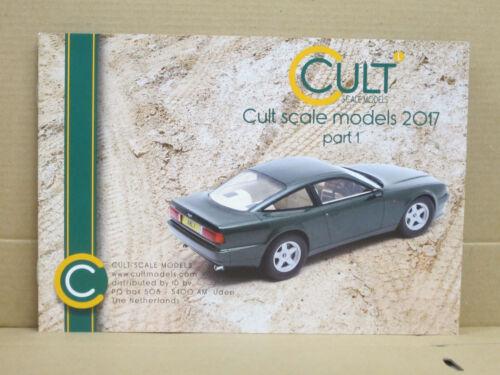 DIN-A-5 Cult Scale Models Katalog 20 Seiten 2017 part 1 englisch