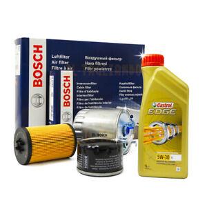 Kit-tagliando-Golf-7-VII-1-6-2-0-tdi-e-GTD-Bosch-5-lt-Olio-Castrol-edge-LL-5w30