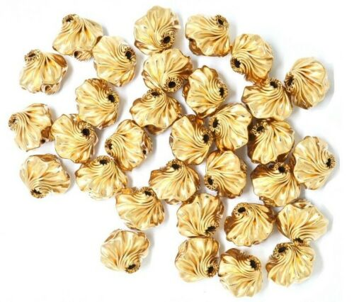 Twisted Corrugated Statement Beads 14//20 Gold Filled  8mm 6,6mm