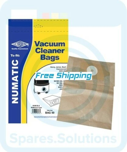 Pack of 5 NVM-1C//2 Dust Bag For Numatic NNV200 Type:NVM-1B NVM1C