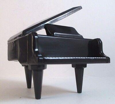 """Miniature Grand Piano Black Lacquer Ware 2 3/4"""" Music Room"""