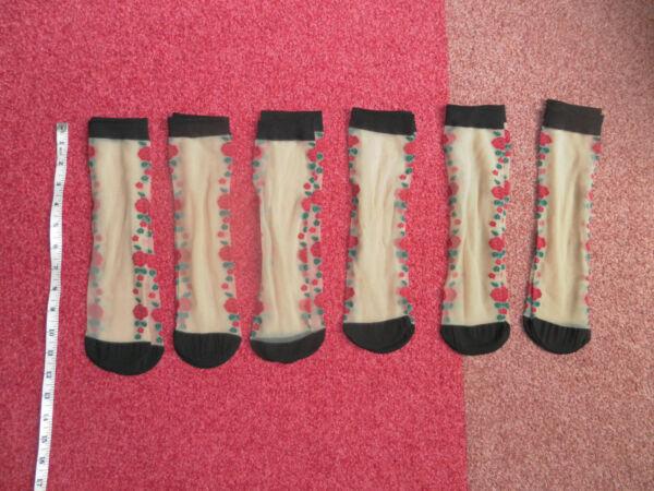 *** Nuovo Confezione Di 6 Taglie Calzini Naturale/fiori Una Taglia Uk 4-6 ***-w Pack Of 6 Ankel Socks Natural/flowers One Size Uk 4-6 ********* Né Troppo Duro Né Troppo Morbido