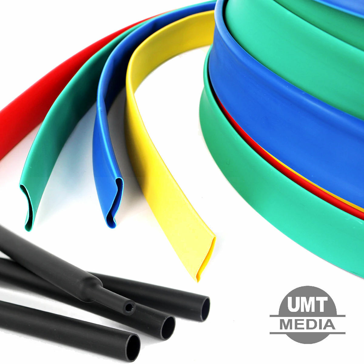 Φ6MM HEAT SHRINK TUBE SLEEVE 2:1 RATIO BLACK CLEAR BLUE RED YELLOW GREEN