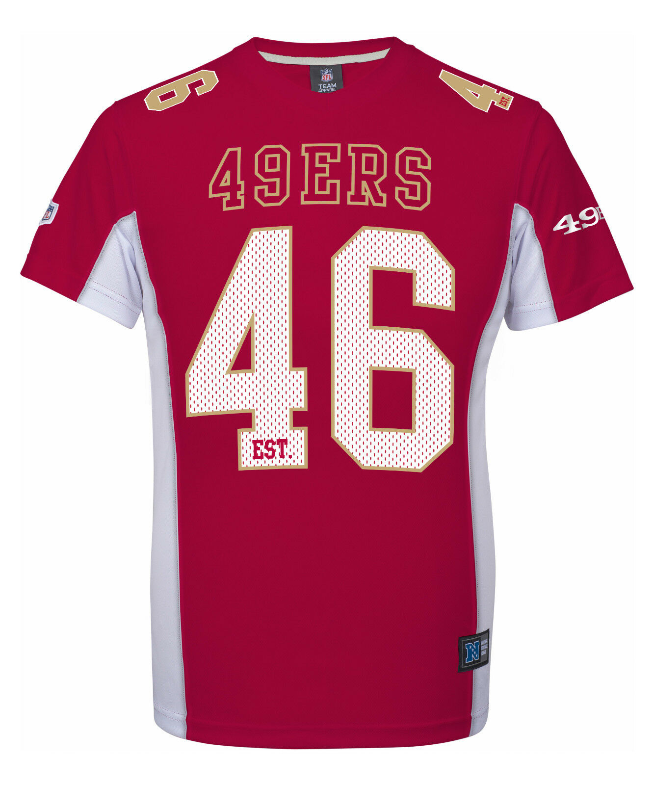 NFL Football Trikot Jersey Shirt SAN FRANCISCO 49ERS 46 rot est.MGold Majestic
