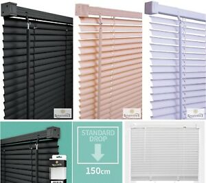PVC-Venetian-Blinds-Window-Door-Blind-Easy-Fit-Trimable-Fitting-Drop-150cm-New