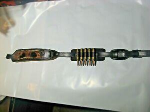 "Slide on Leather Ammo Holder fits on 1/"" Rifle Slings Cartridge Bullet Holder"