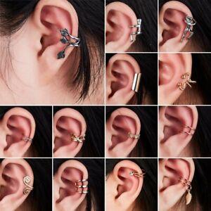 New-Fashion-Crystal-Clip-Ear-Cuff-Stud-Women-039-s-Men-Punk-Wrap-Cartilage-Earring