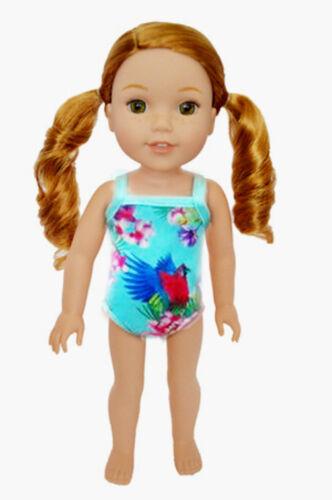 "14.5/"" Doll Tropical Parrot Swimsuit fits 14.5/"" Doll Tropical Parrot Bathing Suit"