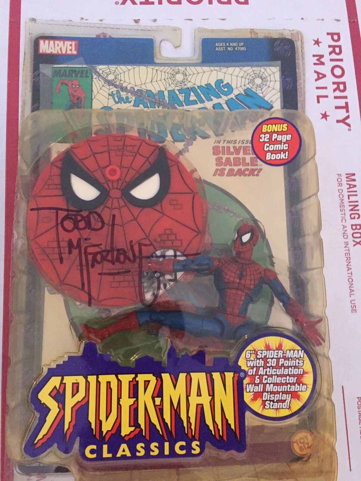 Marvel Legends Spiderman Signed Todd Mcfarlane At SDCC 2019 Copy 301 Spider-Man