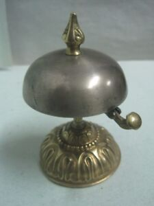 Antique-bronze-and-metal-Bell-desk-table-hotel-bell