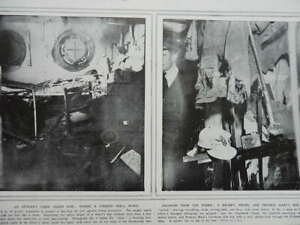 1915 DARDANELLES SHIP OFFICER'S CABIN HIT BY SHELL - PRINCESS MARY TIN WWI WW1