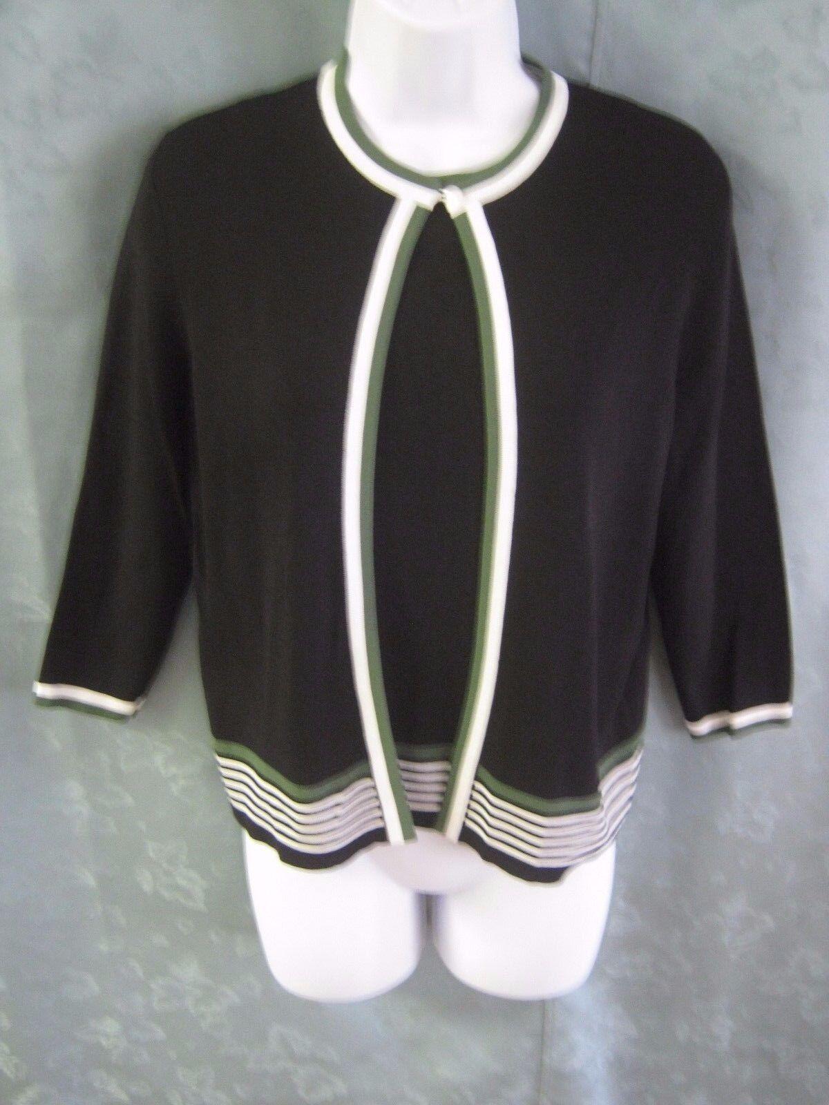 4b276ed2b55 Dressbarn Sweater Twin Set Size Small Sleeveless Flat Knit Top   Cardigan