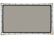 Carl's Rear Projection Film, 16:9, 5x9 Hanging Projector Screen Kit, Gray