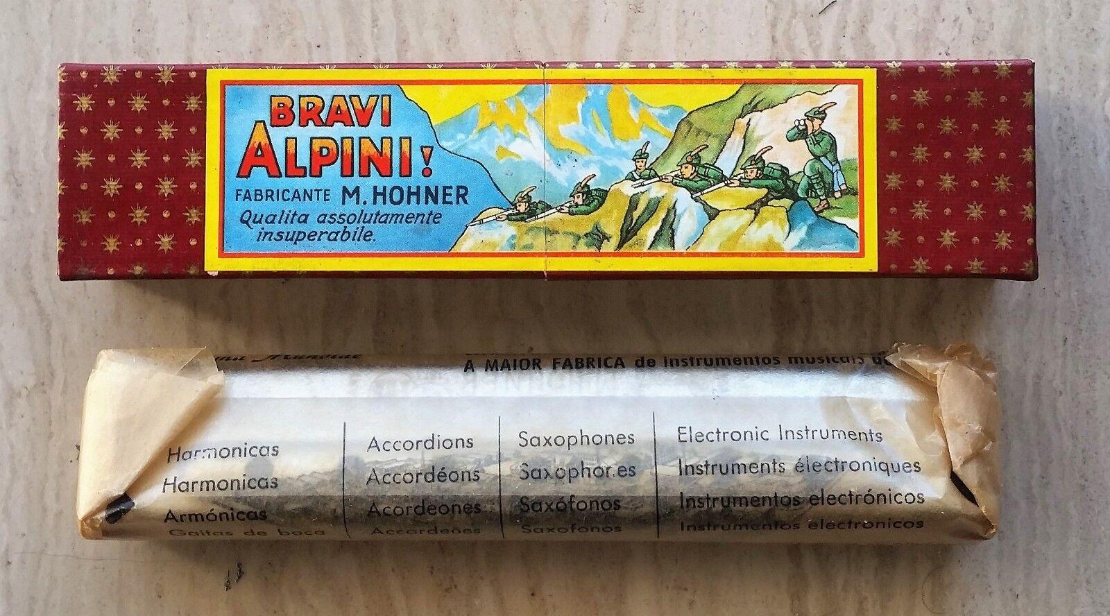 Armonica Hohner Vintage Bravi Alpini 28V - NUOVA NOS NEW - Echo Blaus Big River