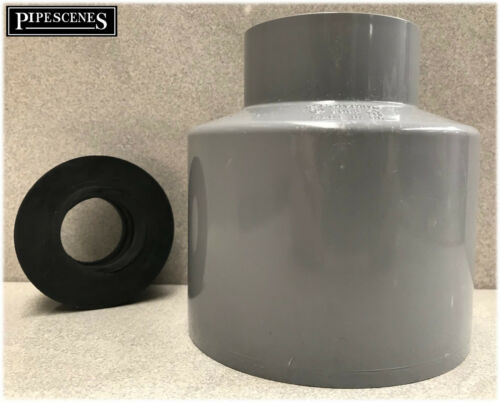 """Waste Pipe to Soil Pipe Adapter Cap Pipe Reducer 110mm to 32mm or 34mm  1 1//4/"""" G"""