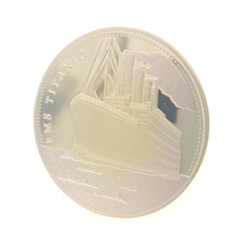 Commemorative Coin Collection British Titanic Golden Ship Badge Iceberg Collapse