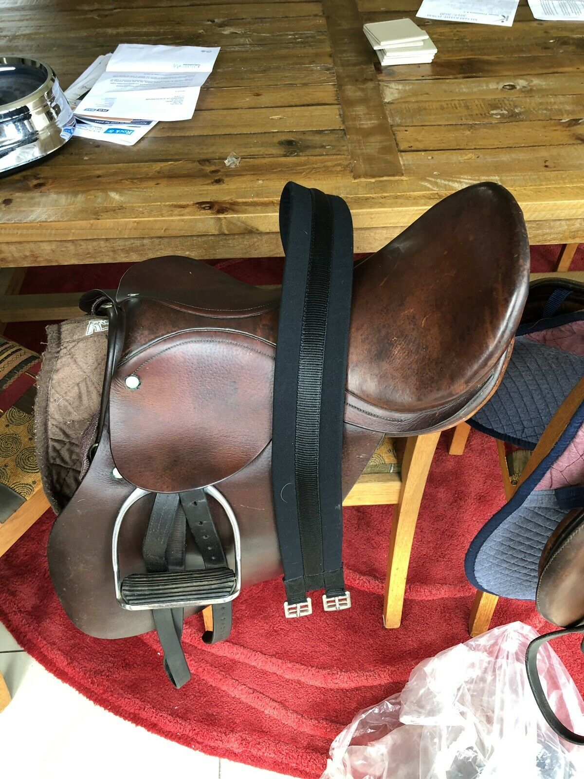 "15.5"" Brown English Leather Saddle"