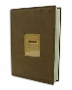 Suede-Cover-Brown-Photo-Album-Holds-300-4-034-x6-034-pictures-3-per-page